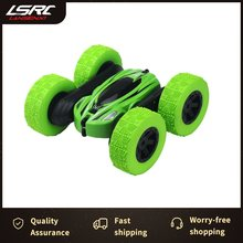 1/18 828A RC auto 360 gradi rotolamento a doppia faccia rotante ad alta velocità auto acrobatica fari freddi antiscivolo pneumatico giocattolo per bambini auto