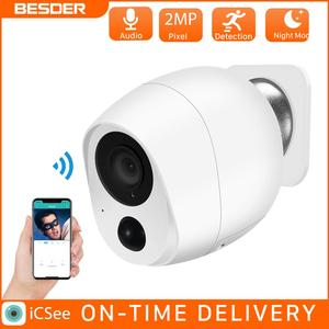 BESDER 2MP Battery Wifi IR NIght Vision Mini 1080P IP Camera Outdoor Wireless Security CCTV Camera SD Card Cloud Audio Camera
