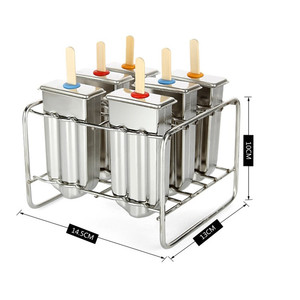 Image 4 - 6/10 금형 스테인레스 아이스크림 금형 Popsicle 금형 DIY 과일 아이스크림 스틱 홀더