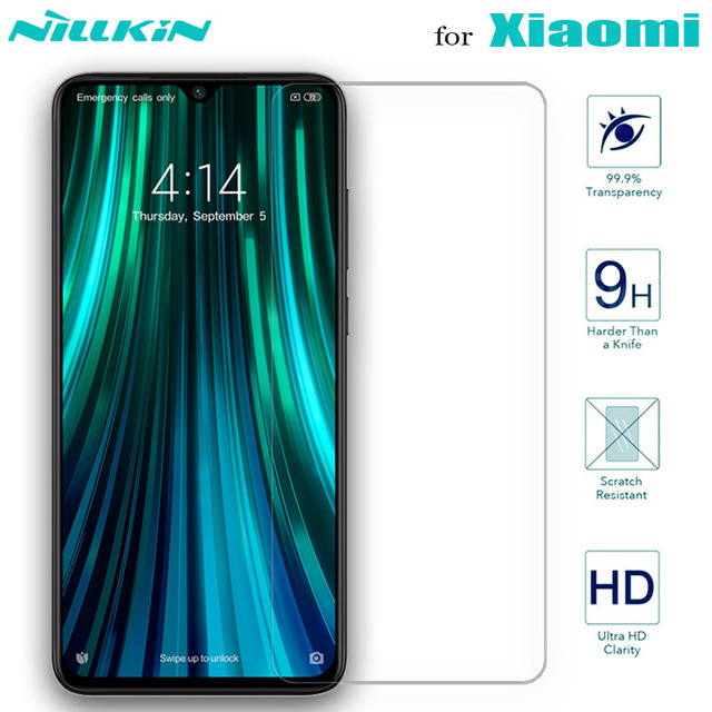Nillkin Glass Screen Protector for Xiaomi POCO X3 NFC Mi 10 10T Lite 9 SE 9T Pro A3 8 Tempered Glass Redmi Note 9s 9 8T 8 7 Max