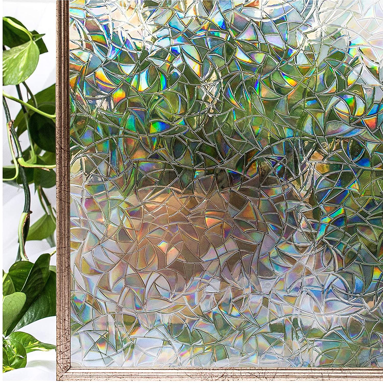 Decorative 3D Window Privacy Film Stained Glass Window Sticker,Window Self-adhesive Vinyl Static Anti Uv Glass Tint Film 1