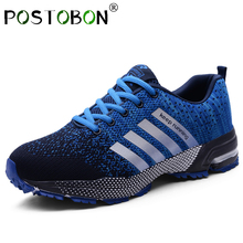 Summer Breathable Men Shoes Casual Fashions Male Mesh Unisex Sneakers Big Size47 Zapatillas Hombre Blue 2019 New