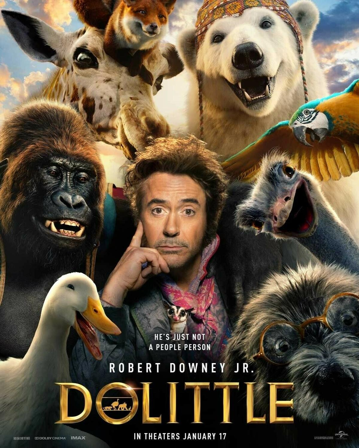 Dolittle Robert Downey Jr Animal Movie Film Silk Fabric Wall Poster Art Decor Sticker Bright image