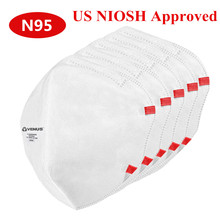 N95 Masks NIOSH Approved EU Certificate Adjustable Headband Respirator Reusable Masque Dust Mask FFP2 mouth caps