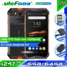 "Ulefone Armor 3W IP68 방수 휴대 전화 10300mAh 5.7 ""FHD + Octa Core 6GB 64GB helio P70 Android9 글로벌 버전 스마트 폰"