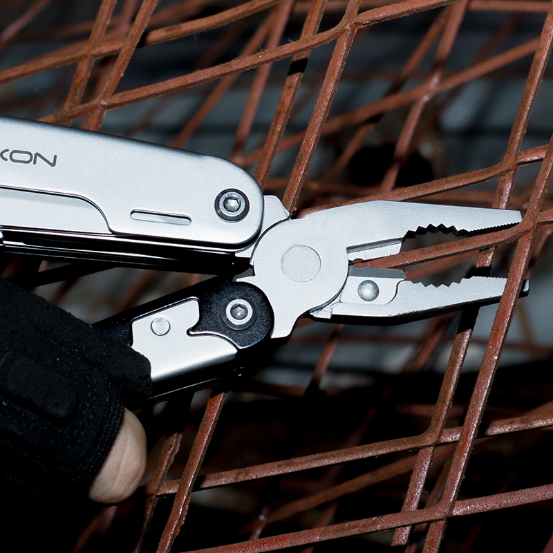 Tools : ROXON S801S 16-in-1 Multitool Pliers-Pocket knife scissors wire cutter screwdriver Bits Group EDC tool Survival Camping