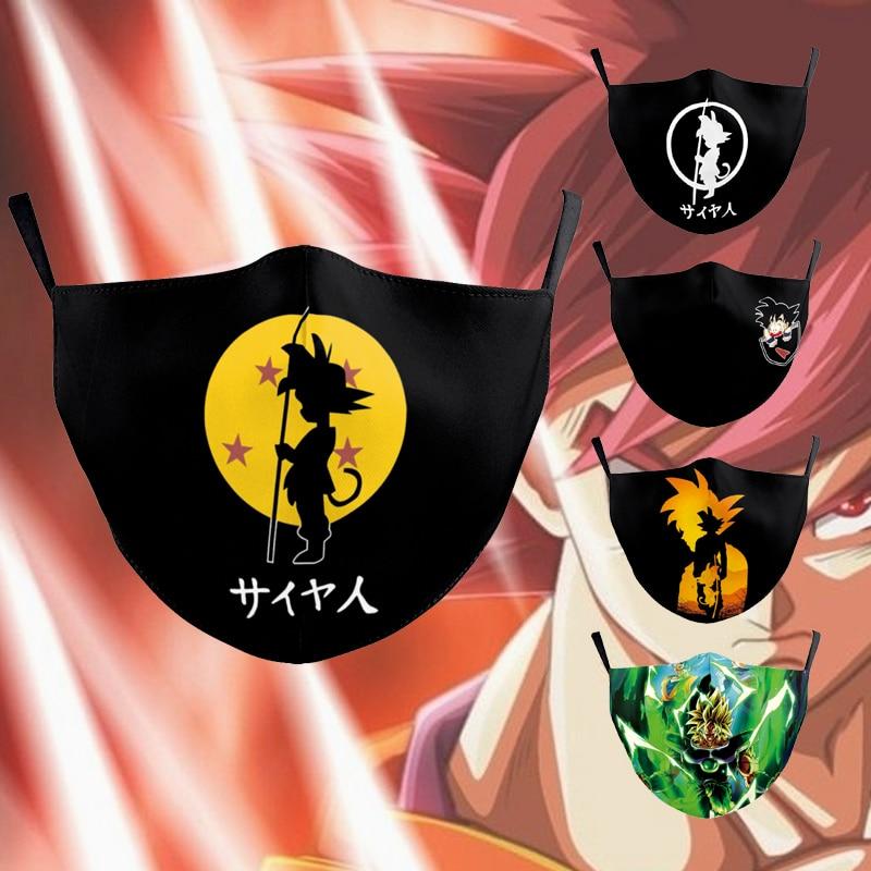 2020 New Fashion Anime Z Face Mouth Masks Unisex Kids Adult Japan Cartoon Goku Anime Print Reusable Face Fabric Masks