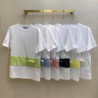 new fashion high end removable waist bag novelty t shirt for women 2020 o neck short sleeve patchwork streetwear summer tops tee