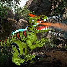 Glowing Music Spray Dinosaur Electric Walking Simulation Jurassic Tyrannosaurus Model Childrens Toys