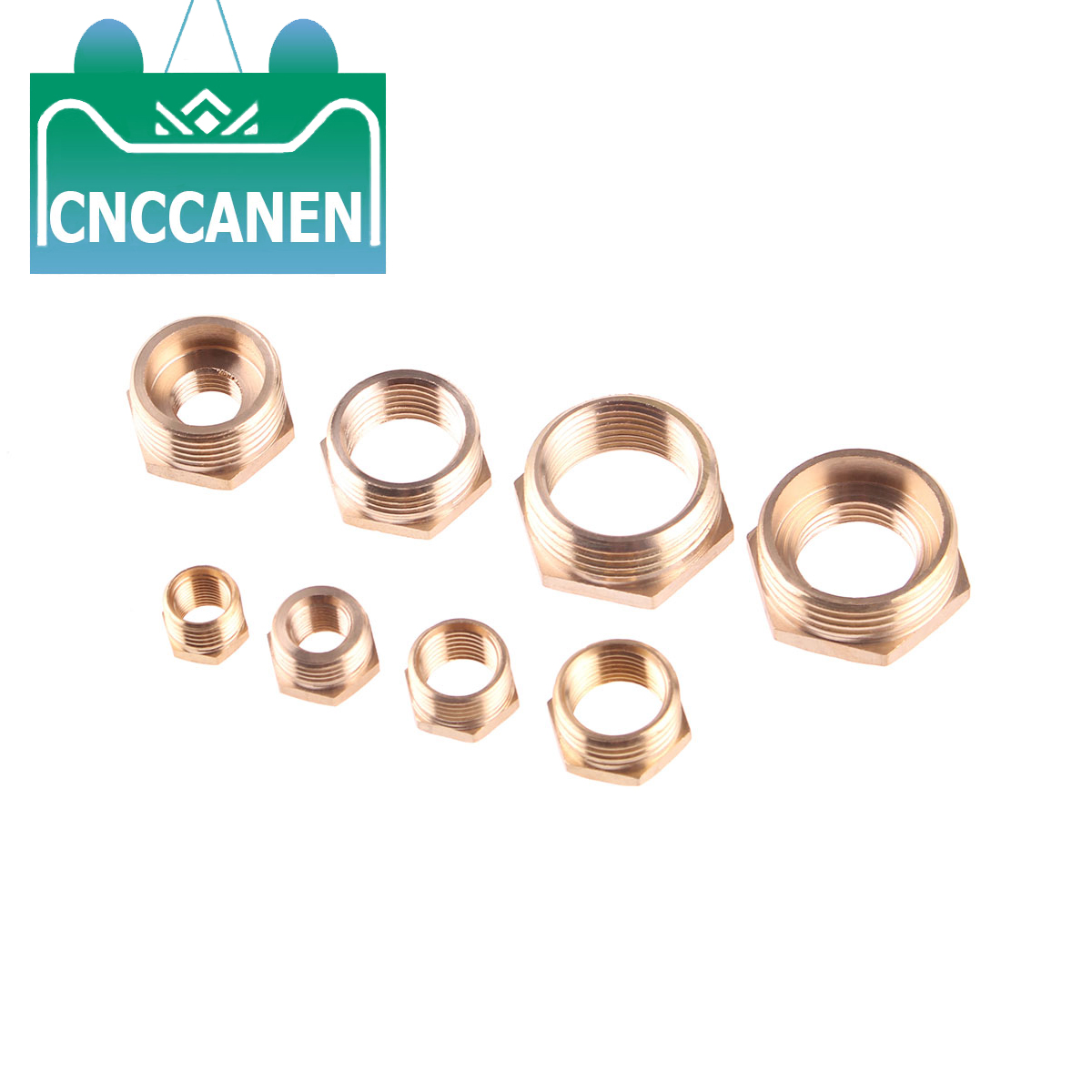 "Brass Hex Reducer Bushing M/F 1/8"" 1/4"" 3/8"" 1/2"" 3/4"" 1"" BSP Male To Female Reducing Bush Coupler Connector Adapter Fitting"