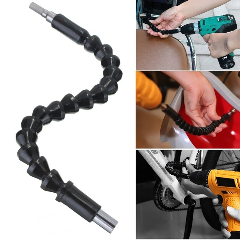 300mm 1/4 Flexible Shaft Electronic Drill Screwdriver Universal Joint Bit Holder Connect Link Repair Power Tool Accessories