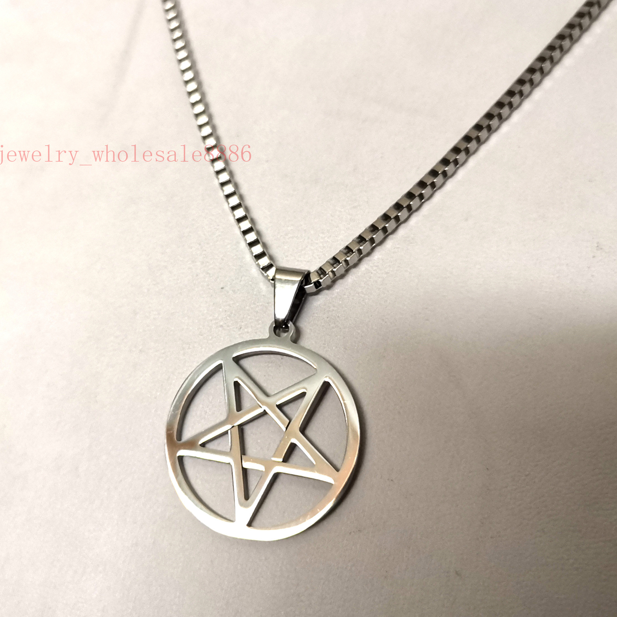 10pcs Star pentacle pentagram charms Pendants Antique Silver 24*24mm