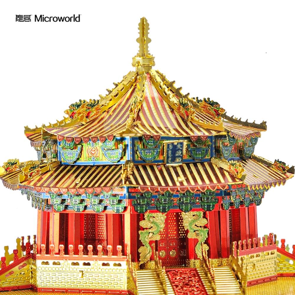 Microworld 3D Metal Puzzle Big politics palace Building Model J066 DIY 3D Laser Cut  Assemble Toys For Audit