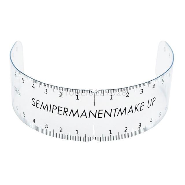 1PC Reusable Semi Permanent Eyebrow Ruler Eye Brow Measure Tool Eyebrow Guide Ruler Microblading Calliper Stencil Makeup Tools 3