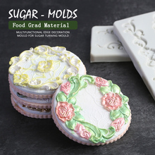 European Lace Fondant Cake Mold Silicone Molds For Baking Cake Decorating Tools Chocolate Mould Pastry Baking Tools Sugarcraft 3d christmas house silicone mold fondant cake decorating tools chocolate plaster sugarcraft baking mould