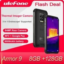 Ulefone – Smartphone Armor 9, caméra d'imagerie thermique, téléphone robuste, Android 10, Helio P90 octa-core, 8 go + 128 go, 6600mAh