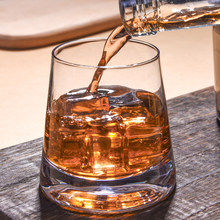 2 Pcs/Lot Whiskey Glass Cup Transparent Thick Bottom Wine Cup for KTV Bar Club Vodka Bourbon Whisky Scotch Liquor Gift for Men
