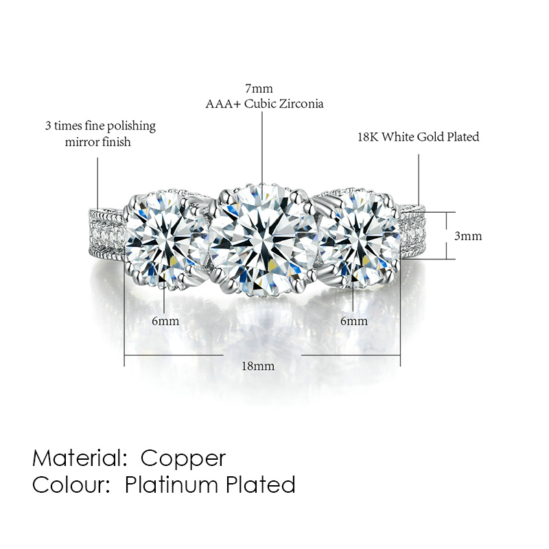 ZHOUYANG кольцо для женщин, простой стиль, кубический цирконий, свадебное кольцо, светильник, золотой цвет, модное ювелирное изделие KBR103 - Цвет основного камня: R497