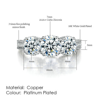 ZHOUYANG Ring For Women Simple Style Cubic Zirconia Wedding Ring Light Gold Color Fashion Jewelry KBR103 10