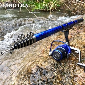 GHOTDA Telescopic Rock Fishing Rod Fishing Rods cb5feb1b7314637725a2e7: Blue|Green