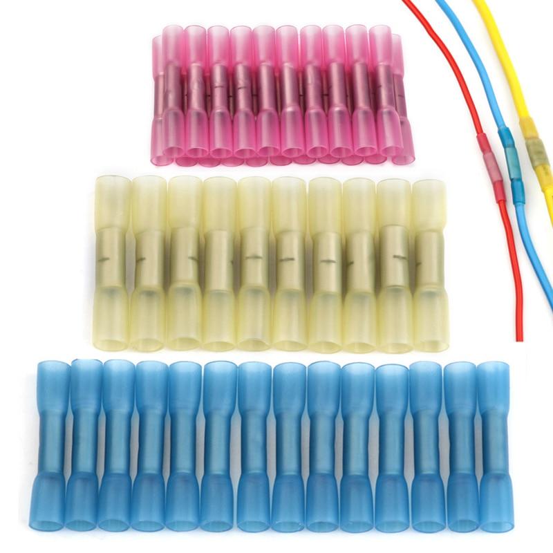 10/20/50個防水熱収縮バットコネクタ絶縁圧着端子電気電線ケーブル圧着コネクタキット|端子|   -