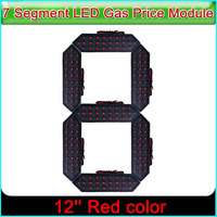 12 Red Color Digita Numbers Module LED Display Signs Advertising Board, 7 Segment LED Gas Price Module