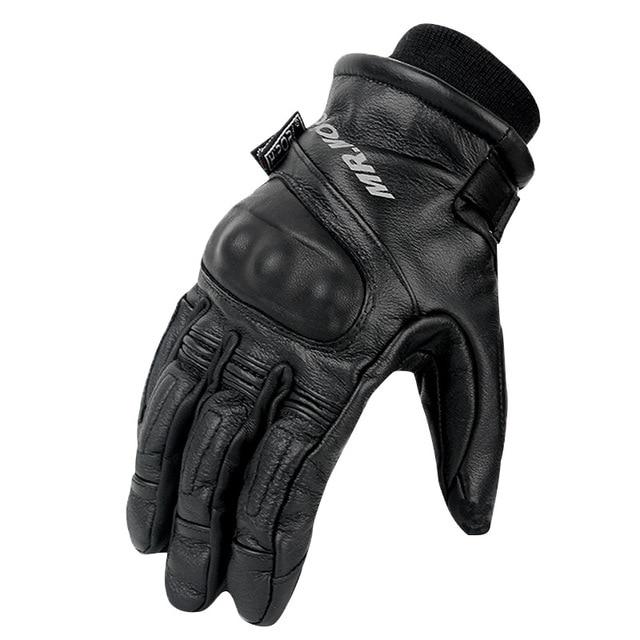 Zimowe ciepłe wodoodporne rękawice moto rcycle męskie rękawice jazda na zewnątrz prawdziwej skóry motocross motocykl moto rbike rękawice guantes moto