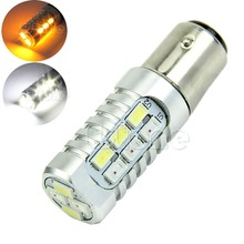 Dual Color 1157 50W 5630 White Yellow LED Switchback  Light Bulbs
