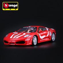 Bburago 1/24 1:24 Scale Ferrari F430 GTR Racing Sports Car Diecast Display Alloy Collectible Model Children Boys Kids Toy 1 10 scale alloy diecast racing bike w basket