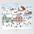 Einmal Auf eine Winter Decke 3D Flanell Weihnachten Decke für Bett Fleece Werfen Lustige Plüsch Bettdecken Großhandel-in Wurf aus Heim und Garten bei
