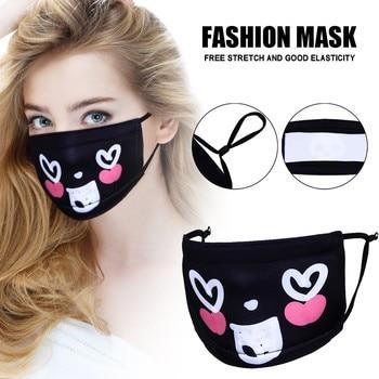 Korean Lovely White Anti Dust Mask Kawaii Cotton Mouth Mask Cute Unisex Cartoon Mouth Muffle Flu Face Mask Bear Face Mask