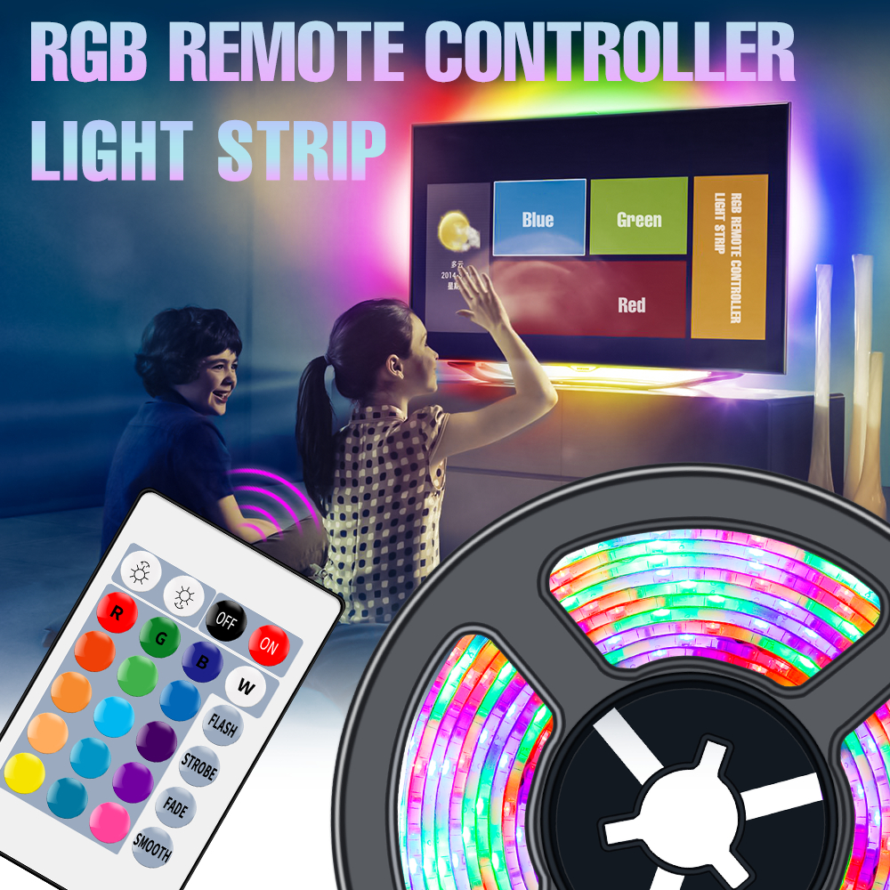 LED Licht Streifen RGB Flexible Lampe Band RGBW USB Wasserdichte Diode Band 2M 3M 4M 5M fita LED Wireless Remote Bunte Lampe Band