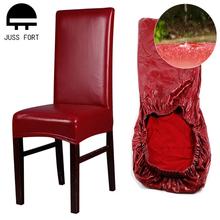 PU wodoodporny elastyczny pokrowiec na krzesło boże narodzenie tanie elastyczny pokrowiec na krzesło pokrowiec na krzesło pokrowce na siedzenia do jadalni Hotel bankiet strona główna tanie tanio JUSS FORT CN (pochodzenie) A00852 Gładkie barwione Nowoczesne Plaża krzesło Hotel krzesło Ślub krzesło Bankiet krzesło