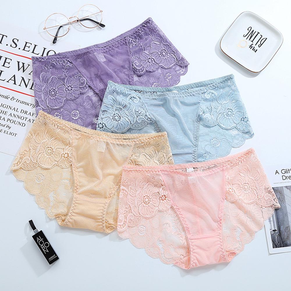 2019 Sexy Underwear Women Lingerie New Panties Underwear Mid-rise Ladies Briefs Lingerie Cute Panties Lingerie