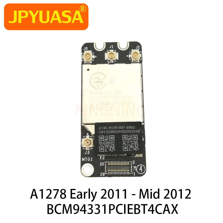 BCM94331PCIEBT4CAX Bluetooth 4.0 Wifi Wireless Airport Card For Macbook Pro 13' A1278 2011 2012 607-8958(China)
