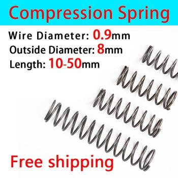 Pressure Spring Compressed Spring Return Spring Release Spring Spot Goods Wire Diameter 0.9mm, Outer Diameter 8mm 2016 spring