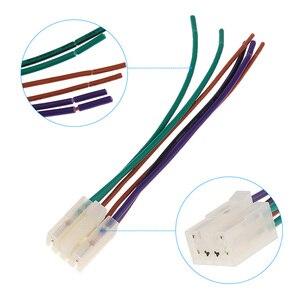"""Image 3 - 1 סט 10 פין + 6 פין רכב סטריאו רדיו/CD/DVD נגן ISO חיווט לרתום מחבר עבור טויוטה רכב סטריאו 6.3 """"אביזרי רכב"""
