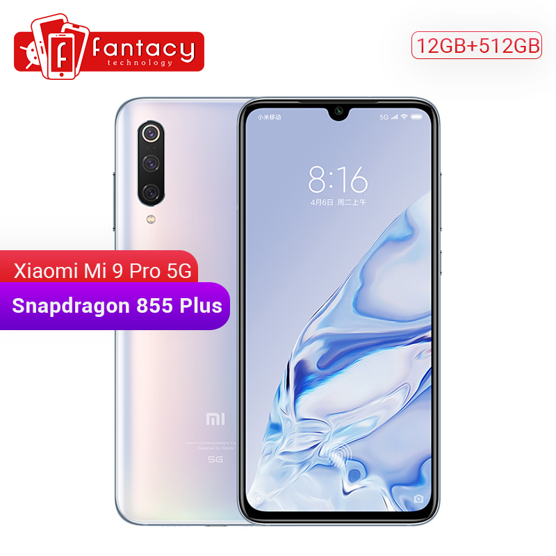 Original Xiaomi Mi 9 Pro Mi9 Pro (5G) 12GB 512GB Smartphone Snapdragon 855 Plus 4000mAh Battery 48MP Triple Cameras 45W Charger