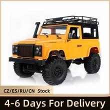 MN-D90 35cm rock crawler 1/12 4wd 2.4g abs metal brinquedos de controle remoto pneus antiderrapantes fora da estrada rtr rc carro com luz led