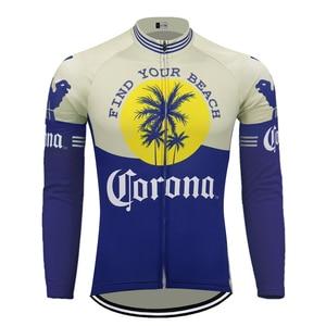 beer Corona long sleeve winter fleece & no fleece cycling Jersey go pro cycling clothing maillot ciclismo mtb jersey(China)