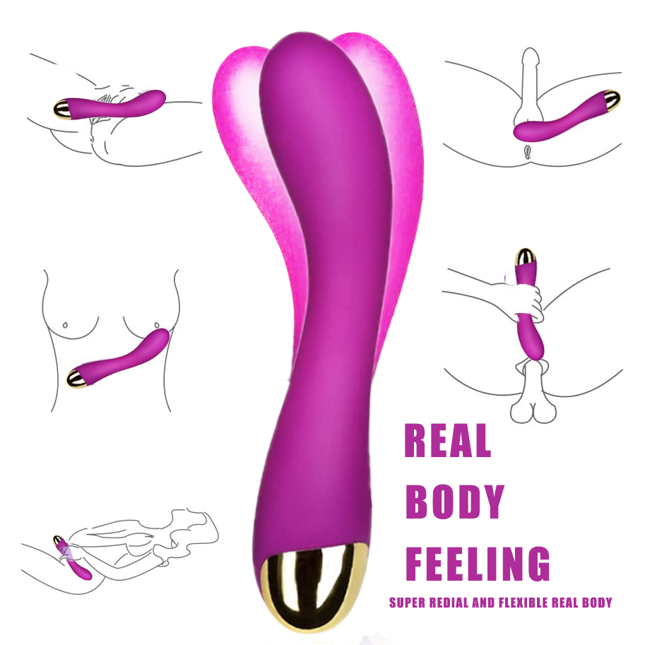Women Sex Toy G-Spot Classic G-Spot VIbrator With Curved TIP Waterproof Multi Speed Sex Toys For Women Adult Product Dildo image