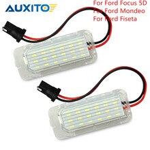 2 sztuk Canbus 12v LED numer oświetlenie tablicy rejestracyjnej lampy wolne od błędów dla Ford focus 5d Mondeo MK4 MK5 Fiseta 2009 2012 2015