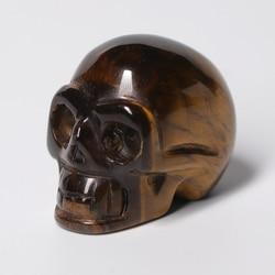 Natural Crystal Tiger Eye Skull Handicraft Crystal Gem Skull Carving Specimen Mineral Crystal Quartz Art Collection