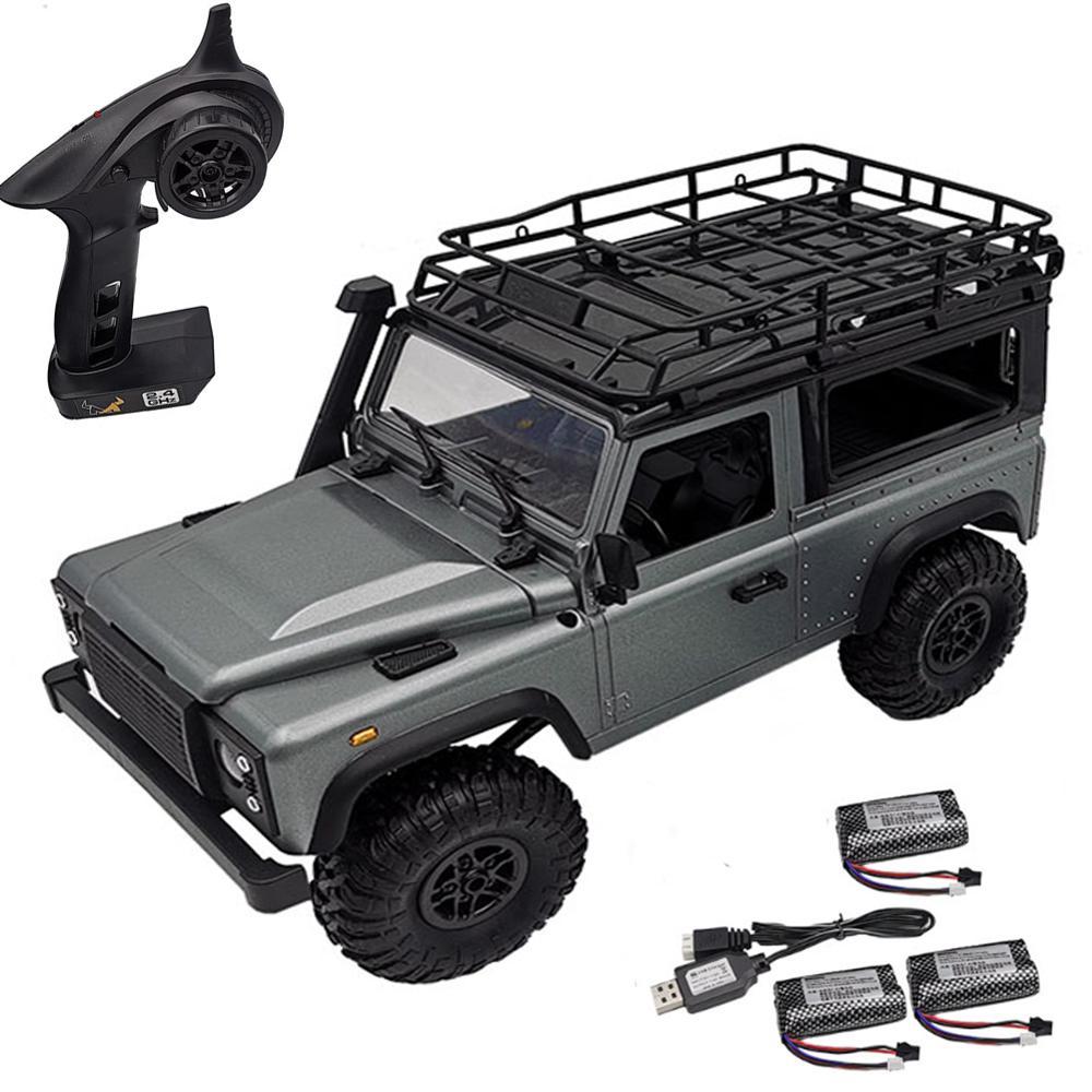 LeadingStar MN-99S 1/12 2.4G 4WD Rc Car W/ Turn Signal LED Light 2 Body Shell Roof Rack Crawler Truck RTR Toy