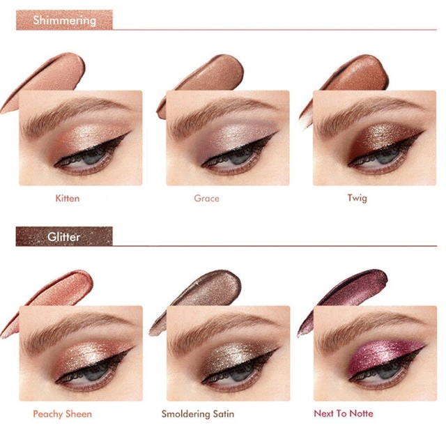 6Pcs Elegance Shimmer Glitter Liquid Eye Shadow Set Glitter & Glow 6 Colors Magnificent Liquid Eyeshadow Kit Easy To Wear 2