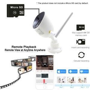 Image 5 - Jienuo 와이파이 ip 카메라 auidio 720 p 1080 p hd 야외 방수 무선 cctv 보안 ipcam onvif 적외선 감시 홈 캠