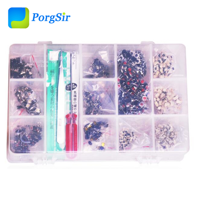 13 Types Common Micro Switches for Car Key Remote Fob Repair each type 100 pieces   total 1300 pieces