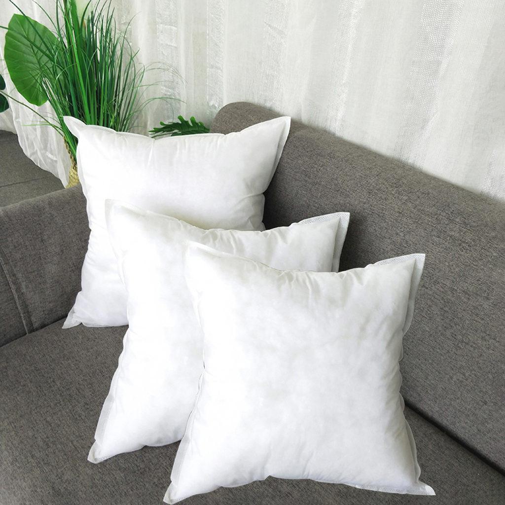 32 1 2 3PCS White Non woven Pillow Cushion Core Pillow Interior Home Decor White Soft