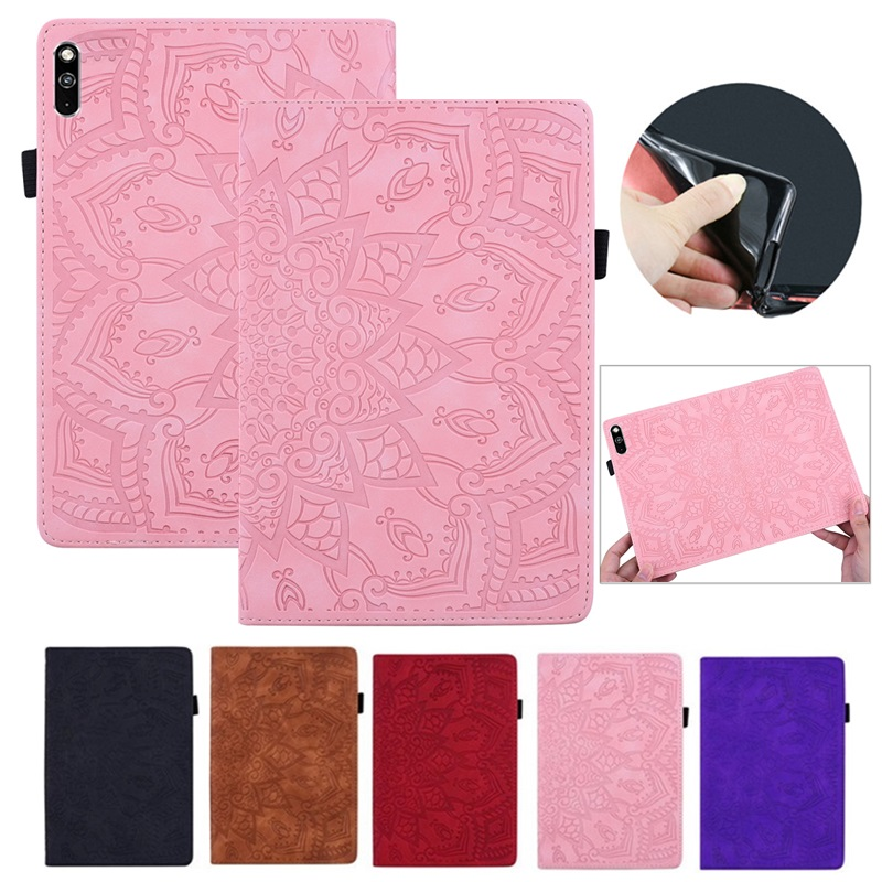 Flower 3D Embossed Cover For Samsung Galaxy Tab A 8.0 2018 T387 SM-T387V T387W Leather Protective Shell For Samsung Tab A Case