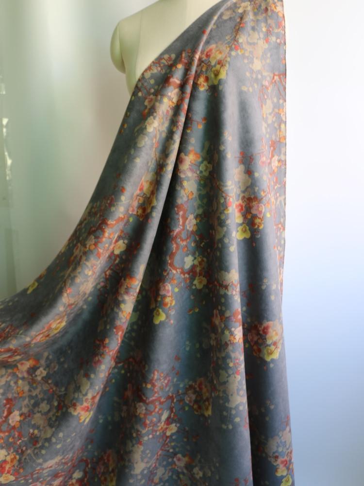 Moda floral casaco jaqueta terno material malha